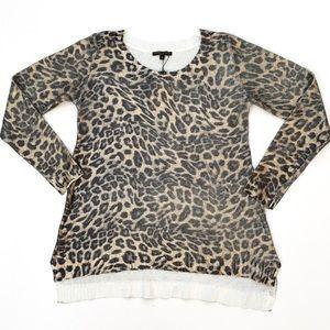 NWT Alberto makali leopard pullover sweater